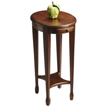"Masterpiece 15"" Wide Cherry Veneered Hardwood Accent Table"