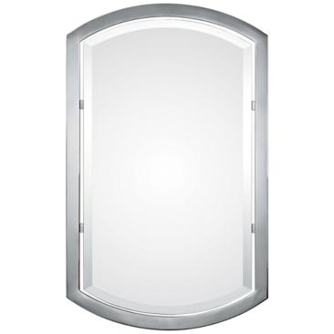 "Uttermost Jacklyn Polished Chrome 23"" x 37"" Wall Mirror"