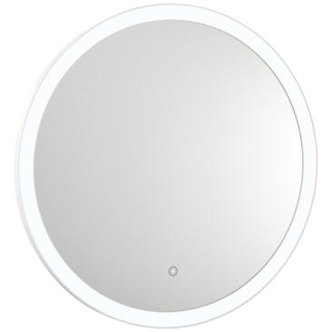 "Grace Back-Lit Glass 31 1/2"" Round 5500K LED Wall Mirror"