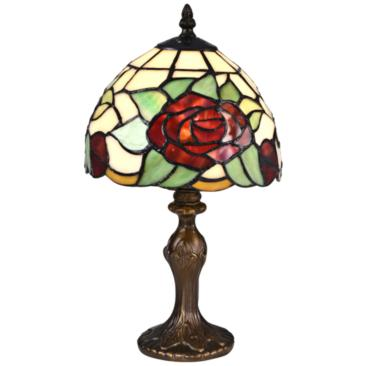 "Indian Rose 14 1/2""H Bronze Tiffany-Style Accent Table Lamp"