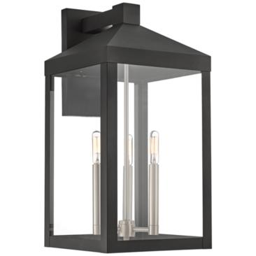 "Nyack 21 3/4"" High Black Outdoor Wall Light"