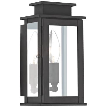 "Princeton 9"" High Black Outdoor Wall Light"
