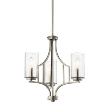"Kichler Vara 18"" Wide Brushed Nickel 3-Light Chandelier"