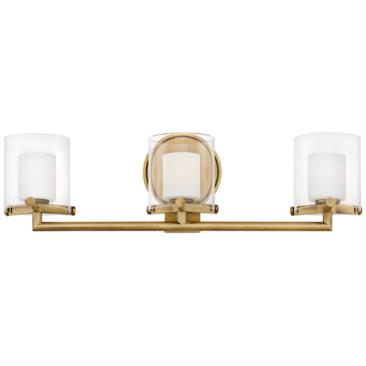 "Hinkley Rixon 24"" Wide Heritage Brass 3-Light LED Bath Light"