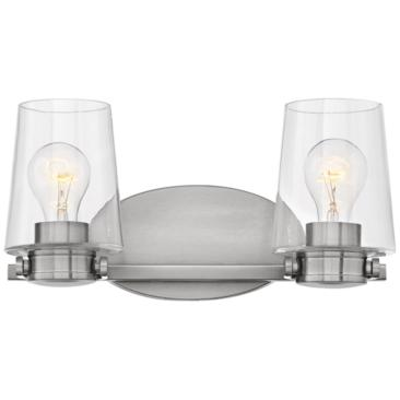 "Hinkley Branson 7 1/4""H Brushed Nickel 2-Light Wall Sconce"