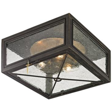 "Randolph 13"" Wide Vintage Bronze Outdoor Ceiling Light"
