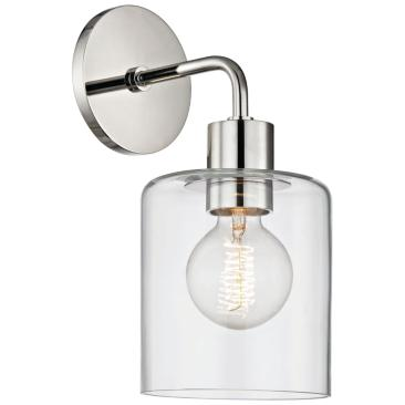 "Mitzi Neko 12"" High Polished Nickel Wall Sconce"
