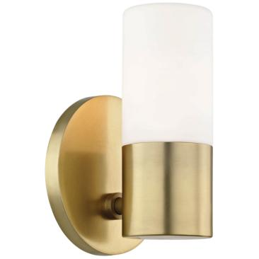 "Mitzi Lola 6 3/4"" High Aged Brass LED Wall Sconce"
