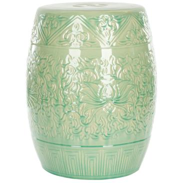 Safavieh Lotus Lime Green Ceramic Garden Stool