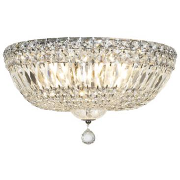 "James R. Moder Crystal 14"" Wide Ceiling Light Fixture"