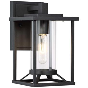 "Trescott 11 1/2"" High Black Outdoor Wall Light"