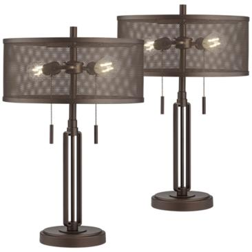 Dayn Industrial LED Table Lamp Set of 2