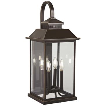 "Miner's Loft 25 1/2""H Oil-Rubbed Bronze Outdoor Wall Light"