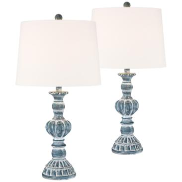 Tanya Blue Wash Table Lamp Set of 2