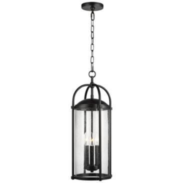 "Feiss Dakota 23"" High Espresso Outdoor Hanging Light"