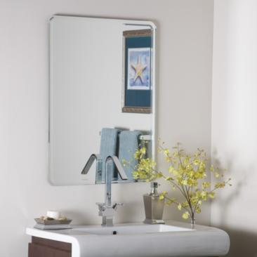 "Samson Large 23 1/2"" x 31 1/2"" Frameless Wall Mirror"