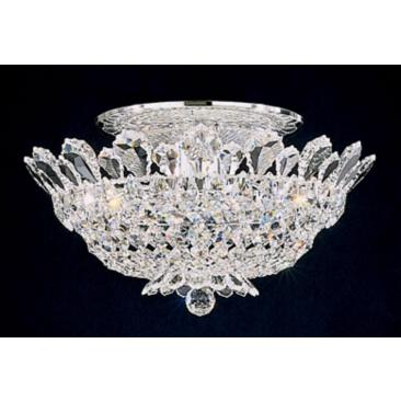 "Schonbek Trilliane 19""W Silver Spectra Crystal Ceiling Light"