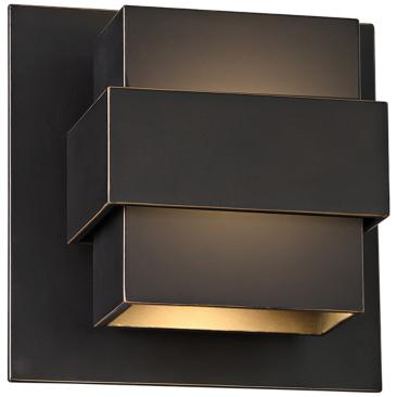 "Modern Forms Pandora 7"" High Bronze LED Outdoor Wall Light"