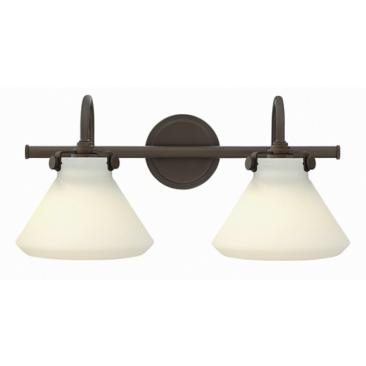 "Congress 19 1/4""W Oil-Rubbed Bronze 2-Light Bath Light"