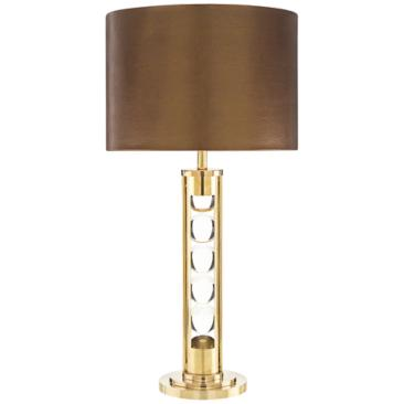 John Richard Crystal Line-Up Brass Table Lamp