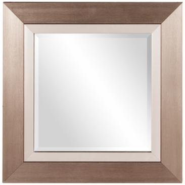 "Howard Elliott Chicago Brushed Silver 18"" Square Wall Mirror"
