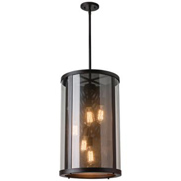 "Feiss Bluffton 24 3/4"" High Bronze Outdoor Hanging Light"