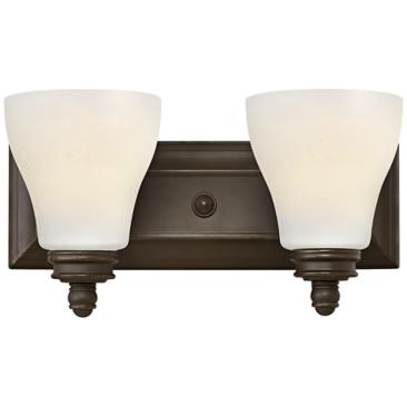 "Hinkley Claire 14"" Wide Oil-Rubbed Bronze Bathroom Light"