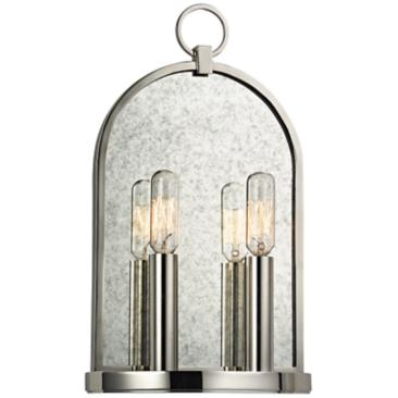 "Hudson Valley Lowell 13 3/4"" High 2-Light Polished Sconce"