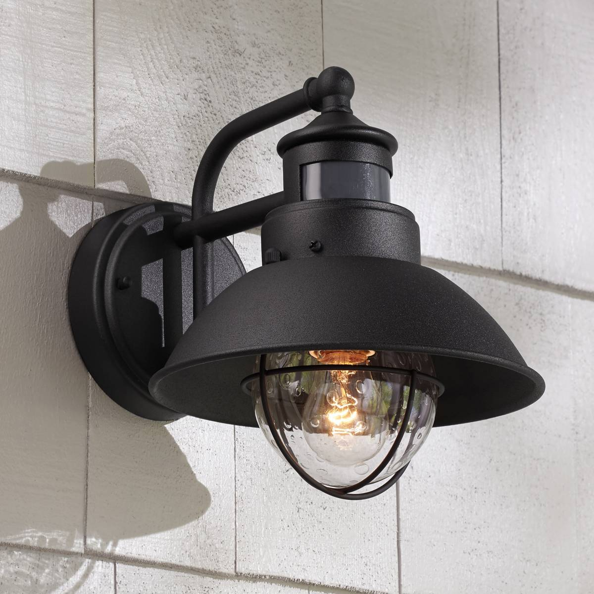 Motion sensor outdoor light fixtures lamps plus