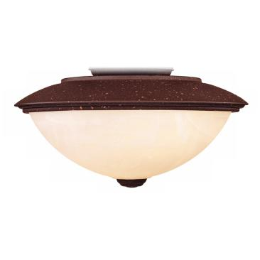 Rust Finish Outdoor Wet-Location Rated Ceiling Fan Light Kit
