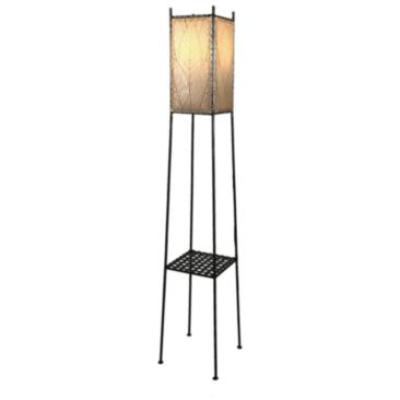 Square Shelf Large Cocoa Leaves LED Outdoor Floor Lamp