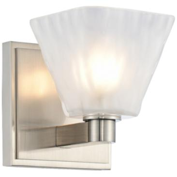 "Kalco Weston 5"" High Glazed Nickel LED Wall Sconce"
