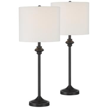 Lynn Black Buffet Table Lamps Set of 2