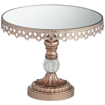 "Rose Gold Mirror Top 10""W Cake Stand"