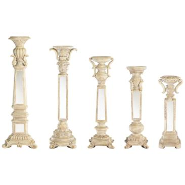 Theia Set of 5 Mirrored Candle Holders