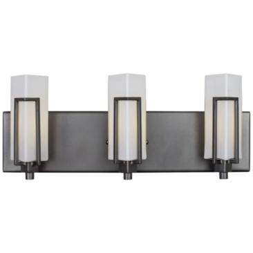 "Highlander 18 1/2"" High Rustic Bronze 3-Light Bath Light"