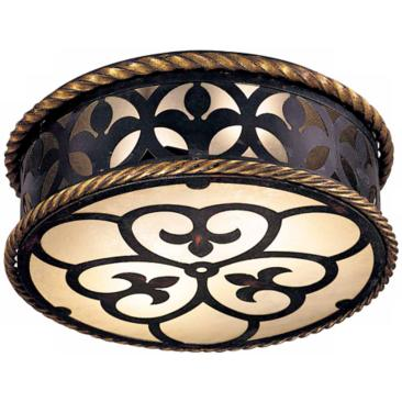 "Metropolitan Montparnasse Black 15 1/2"" Wide Ceiling Light"