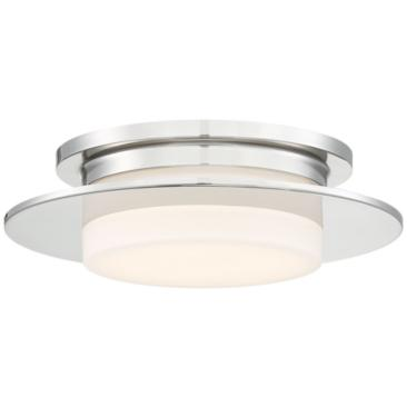 "George Kovacs Press 14""W Polished Nickel LED Ceiling Light"