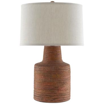 Currey and Company Crossroads Rough Terracotta Table Lamp