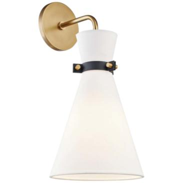 "Mitzi Julia 17"" High Aged Brass Wall Sconce"