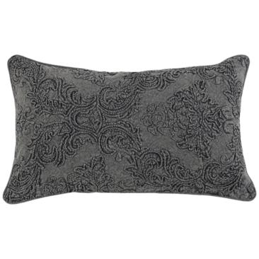 "Lantry Charcoal 26"" x 14"" Decorative Pillow"