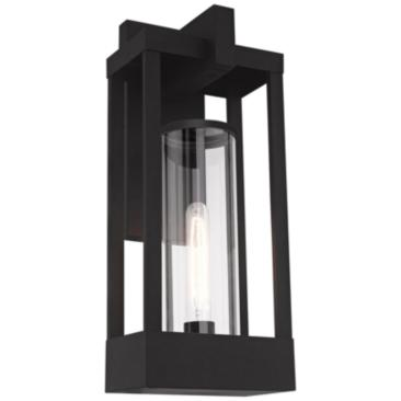 "Delancey 20"" High Black Outdoor Lantern Wall Light"