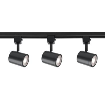 WAC Charge 3-Light Black LED Halo Track Light Kit