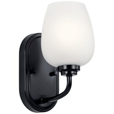 "Kichler Valserrano 10 1/4"" High Black Wall Sconce"