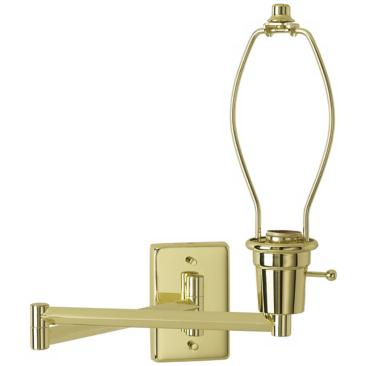 Brass Plug-In Swing Arm Wall Lamp Base