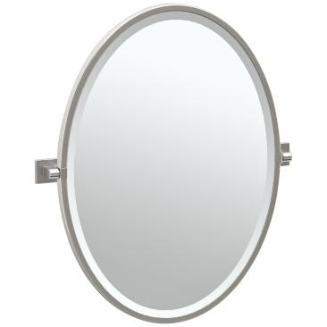 "Gatco Elevate Satin Nickel 23 3/4"" x 27 1/2"" Wall Mirror"