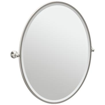 "Gatco Laurel Satin Nickel 28 3/4"" x 33"" Wall Mirror"