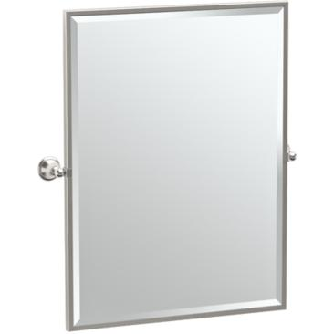 "Gatco Laurel Satin Nickel 28 1/4"" x 32 1/2"" Vanity Mirror"