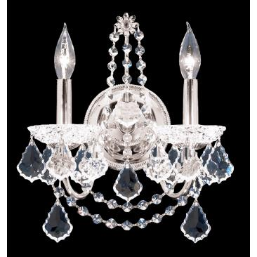 "James R.  Moder 14"" High Crystal Wall Sconce"