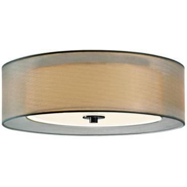"Sonneman Puri 16"" Wide Satin Nickel Ceiling Light"